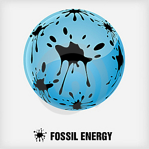 Recycle Symbol, Fossil Energy Royalty Free Stock Images - Image: 19557679