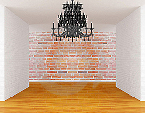 Room With Black Chandelier Stock Photo - Image: 19561730
