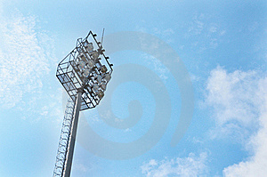 Lighting In The Sports Arena For Illuminating Even Royalty Free Stock Photography - Image: 19569227