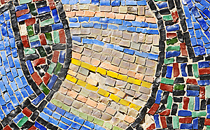 Mosaic Texture On Wall Stock Images - Image: 19569674