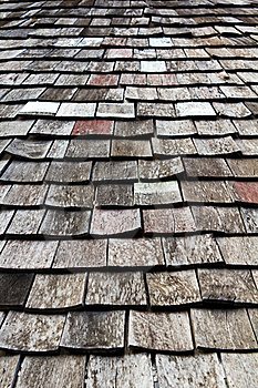 Old Worn Shingle Roof Pattern Royalty Free Stock Images - Image: 19571289