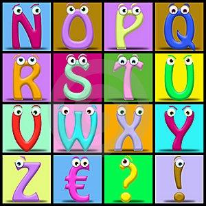 Cartoon Alphabet Stock Images - Image: 19572184