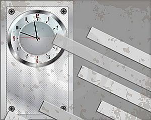Grey Clock Background Stock Photography - Image: 19572742
