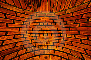 Old Orange Brick Wall Texture Blast Out Royalty Free Stock Photography - Image: 19574807