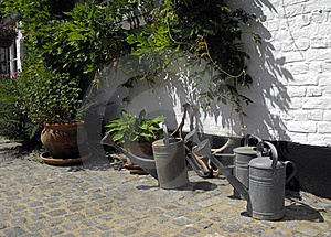 Watering Cans. Royalty Free Stock Photos - Image: 19576558