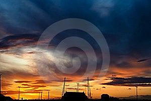 Vibrant Sunset Stock Photography - Image: 19577262