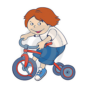 Boy Riding Bicycle Royalty Free Stock Photography - Image: 19578337