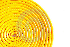 Swirl Yellow Cable Marker Stock Photos - Image: 19581083