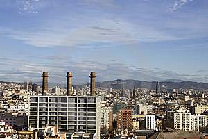 Panoramic View Of Barcelona Royalty Free Stock Photo - Image: 19583675