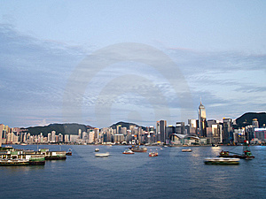 Hong Kong Victoria Harbour Stock Image - Image: 19586211