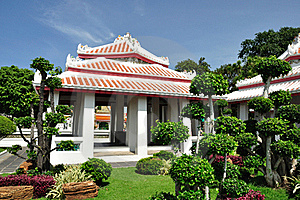 Pavilion In Wat Arun Royalty Free Stock Photography - Image: 19587817
