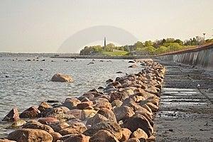 Dam Along Sea Coast. Royalty Free Stock Photo - Image: 19588095