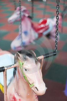 Pink Pony On Playground Stock Photos - Image: 19588553