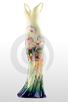 Gown shaped vase Royalty Free Stock Images