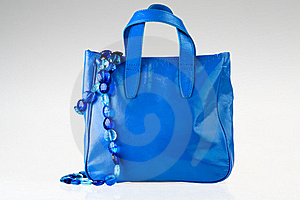 Blue Bag And Necklace Stock Images - Image: 19588824