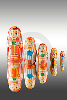 Russian babushka dolls Stock Images
