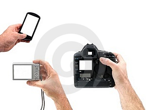 Hand Held Digital Cameras Royalty Free Stock Photography - Image: 19589357