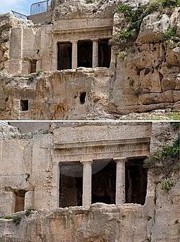 Caverna Antiga Do Túmulo De Benei Hezir Em Jerusalem Fotos de Stock - Imagem: 19590603