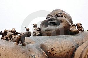 Maitreya Buddha Sculpture Royalty Free Stock Image - Image: 19592276