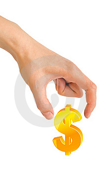 Hand And Dollar Stock Photography - Image: 19592552