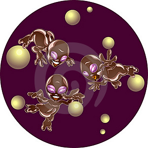 Extraterrestrial Beings Royalty Free Stock Image - Image: 19594516
