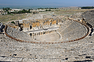 Ancient Theater In Hierapolis Stock Photo - Image: 19594600