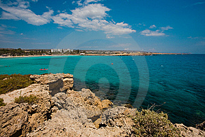 Sea View In Cyprus Royalty Free Stock Photo - Image: 19594805
