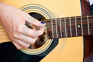 Guitar Fingers Stock Images - Image: 19597054