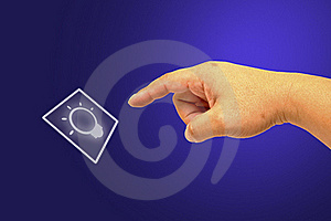 Hand Pushing The Button Stock Images - Image: 19597234