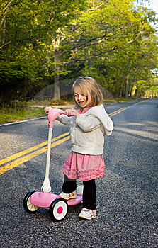 Pink Scooter Royalty Free Stock Photos - Image: 19597528