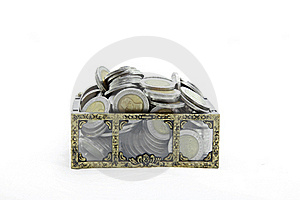 Wealth Coins Chest Stock Photography - Image: 19598602