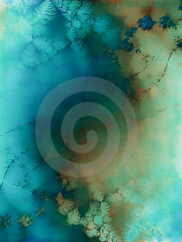 Aqua Blue Watercolors Texure Art Royalty Free Stock Images - Image: 1965599