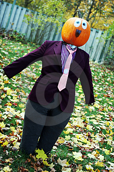Pumpkin Person In A Suit Stock Images - Image: 1967264