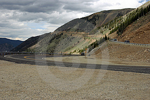 WInding Road In Mountains Royalty Free Stock Image - Image: 1969276