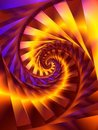 Gold Spiral Swirl Fractal Digital Art