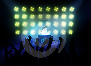 Performing Dj 3d Royalty Free Stock Image - Image: 19604446
