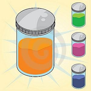 Jar Of Sample Royalty Free Stock Image - Image: 19605126