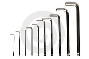 Ascending Hex Key Set Stock Image - Image: 19607941