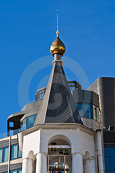 Belltower And Office Buildings Stock Photography - Image: 19609822