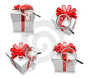 3d Decorated White Gift Royalty Free Stock Images - Image: 19611959