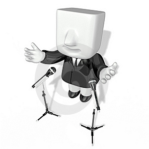 3d Business Man Speaking Royalty Free Stock Photography - Image: 19611967