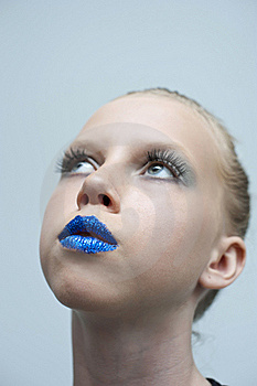 Beauty Blue Mouth Royalty Free Stock Image - Image: 19612106