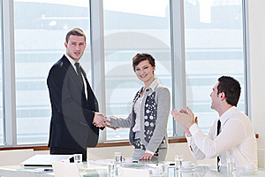 Group Of Business People At Meeting Royalty Free Stock Image - Image: 19612536
