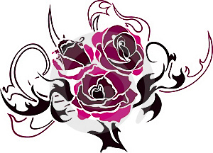 Rose Tattoo Second Var Stock Photo - Image: 19612930