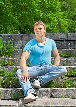 Portrait Of Handsome Young Man Outdoors Royalty Free Stock Images - Image: 19615479