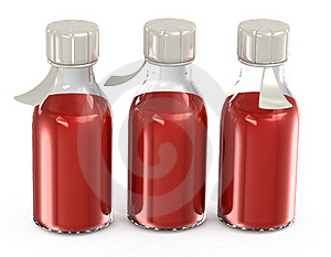 Transparent Bottles With A Vaccine Stock Photography - Image: 19615802