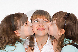 Mom With Her Daughters Stock Images - Image: 19618414