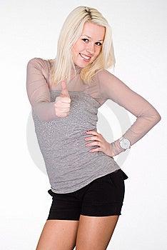 Wonderful Girl On White Royalty Free Stock Image - Image: 19618656