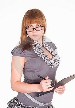 Cute Girl Writing Royalty Free Stock Photos - Image: 19618738