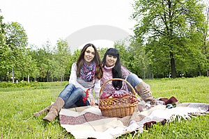 Mother And Daughter Relaxing Outdoors Stock Photography - Image: 19619312